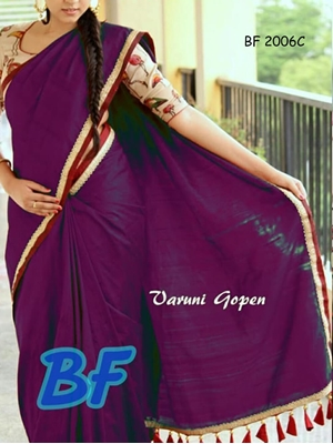 Picture of BF2006C Purple Function Wear Chanderi Cotton Saree
