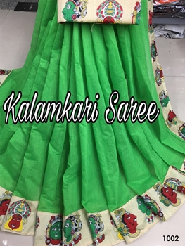 Picture of 1002 Green Designer South Special Chanderi Cotton Saree