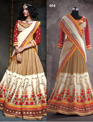 Picture of 604AntiqueBrass Exclusive Ethnic Wear Lehenga Choli