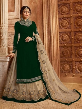 Picture of 3007 Green Fancy Designer Suit