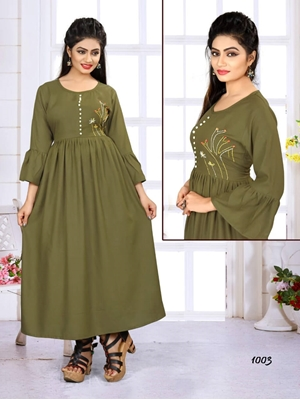 Picture of W1003 Designer XL Size Western Kurti And Gown