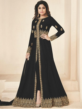 Picture of 10001A Black Party Wear Designer Suit