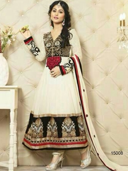Picture of 15008 Cream Designer Georgette Anarkali Suit