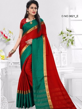 Picture of 9321D Red and Green Designer Function Wear Saree
