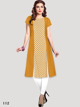 Picture of 112 Yellow Designer Party Wear XL Size Stitched Kurti