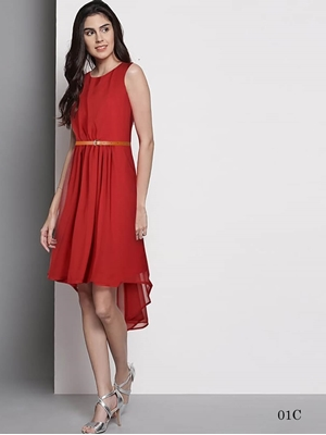 Picture of 01C Red Western Style M Size Designer Dresses