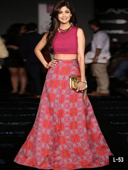 Picture of L53 Dark Magenta Designer Lehenga Choli