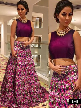 Picture of L41 Wine and Megenta Designer Lehenga Choli