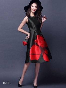 Picture of D101 Black Designer Western Wear Dress