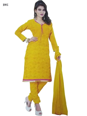 Picture of 1004 Yellow Designer Salwar Suit