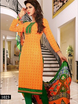 Picture of 1023 Yellow and Orange Designer Straight Suit