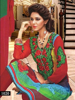 Picture of 1020 Red Designer Straight Suit