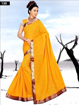 Picture of 130 Yellow Designer Saree