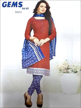 Picture of 3004Red And Blue Designer Straight Suit
