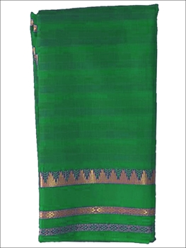 Picture of A1133 Green Colored Mono Cotton Saree
