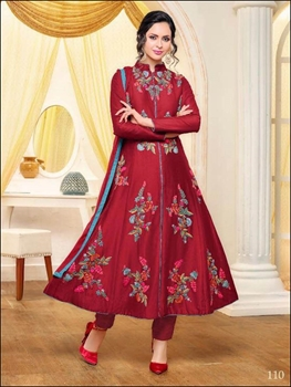 Picture of 110Red Exclusive Semistitched Designer Suit