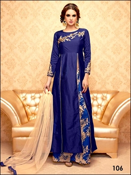 Picture of 106Navy Blue Exclusive Stitched Designer Suit