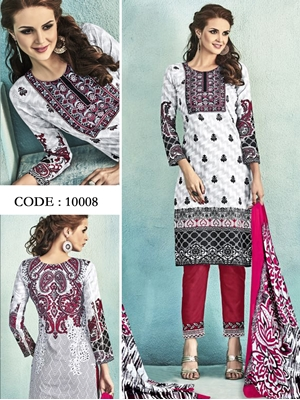 Picture of 10008White Latest Fancy Salwar Suit