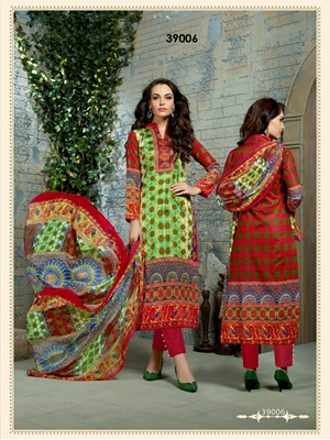 Picture of 39006LemonGreen Exclusive Designer Straight Suit