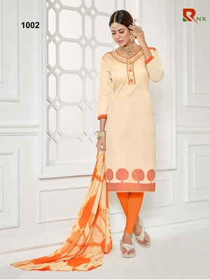 Picture of 1002 Ivory Exclusive Fancy Designer Straight Suit