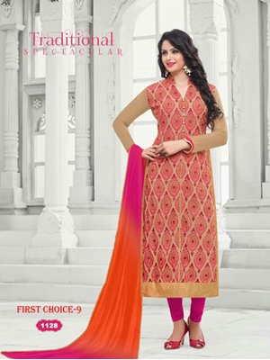 Picture of 1128Burlywood and Multicolor Exclusive Fancy Designer Suit