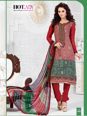 Picture of 10000Red Exclusive Fancy Designer Straight Suit