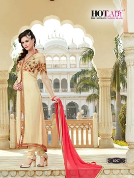 Picture of 8007 Cream Exclusive Function Wear Designer Suit