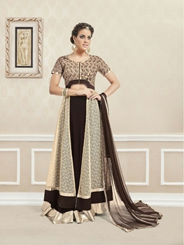 Picture of 31007CoffeeBrown and Cream Exclusive Fancy Party Wear Designer Suit