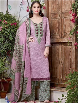 Picture of 97909CarnationPink Fancy Party Wear Designer Plazo Suit