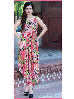 Picture of 5005Peach and Multicolor Daily Wear Designer Salwar Suit