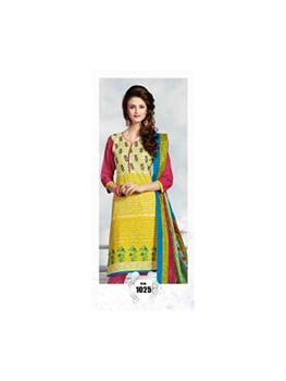 Picture of 1025 Yellow Designer Daily Wear Cotton Salwar Suit