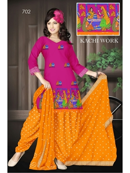 Picture of 702Magenta Designer Exclusive Fancy Daily Wear Cotton Salwar Suit