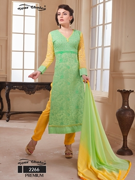 Picture of 2266LightGreen Exclusive Function Wear Straight Salwar Suit