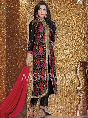 Picture of 4003Multicolor Designer Traditional Party Wear Semistitched Designer Suit