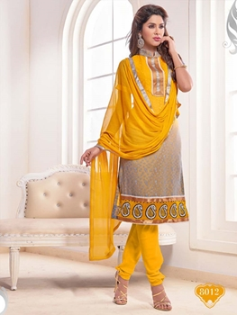 Picture of 8012 Yellow Designer Straight Suit