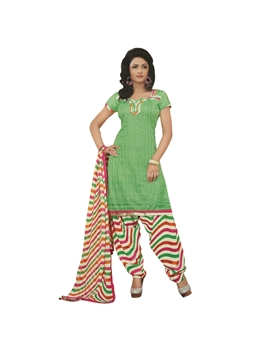 Picture of 6001 Light Green and Ivory Patiyala Suit