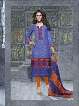 Picture of 58003 Dull Blue Designer Straight Suit