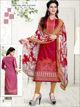 Picture of 1007 Red Designer Straight Suit