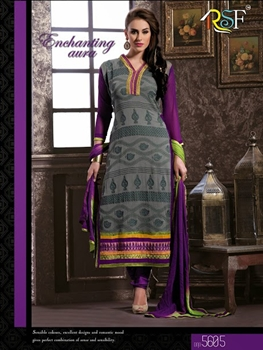 Picture of 15605 Gray and Purple Straight Suit