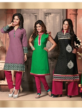 Picture of 305DeepPink Green and Black 3 in 1 Designer Suit