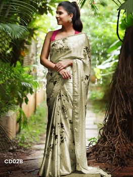 Picture of CD02B Exclusive Heavy Digital Print Designer Saree