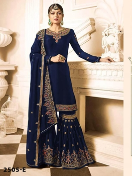 Picture of Sharara Plazzo 2505E Georgette with Full heavy Embroidery Work