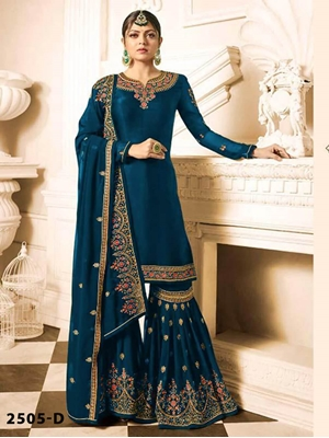 Picture of Sharara Plazzo 2505D Georgette with Full heavy Embroidery Work