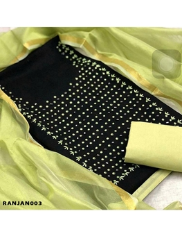 Picture of 003RANJANVOL2 Banarasi  Dress Material