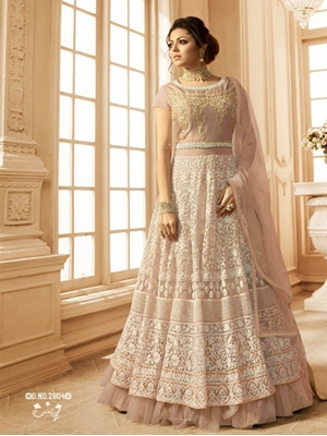 Picture of R2804B Net With Embroidery Designer Anarkali Suit