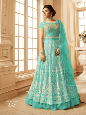 Picture of R2804A Net With Embroidery Designer Anarkali Suit