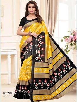 Picture of 2007 Khadi Silk Bharat Kalamkari Designer Saree Collection