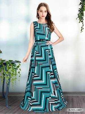 Picture of 1007 Designer Georgette Western Wear Gown