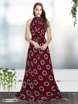 Picture of 1006 Designer Georgette Western Wear Gown