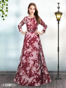 Picture of 1002 Designer Georgette Western Wear Gown